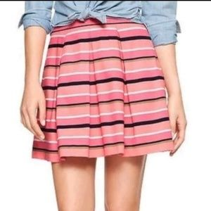 GAP A-Line Flare Pleated Skirt Women's Size 0 Pink